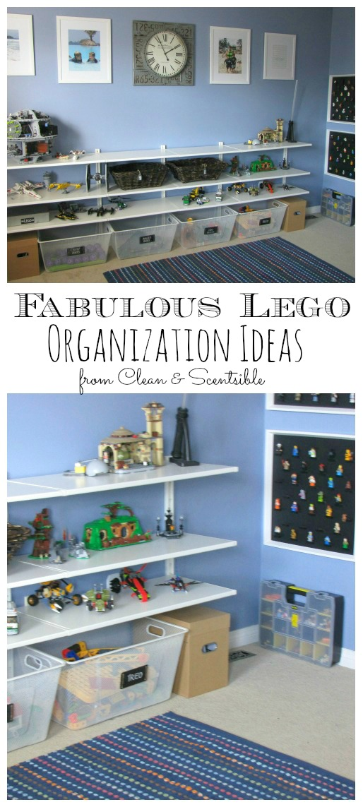 Tons of great Lego organization ideas!