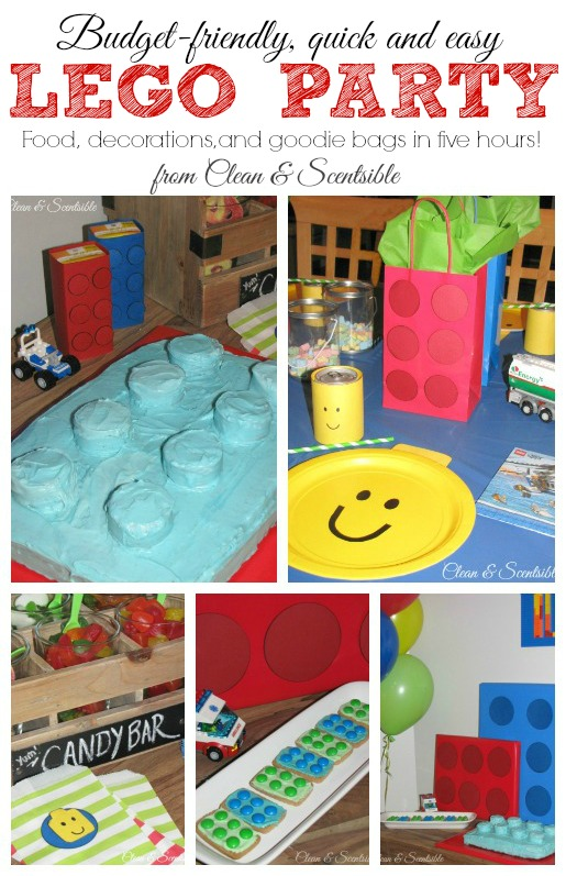 quick and easy lego party ideas   clean and scentsible