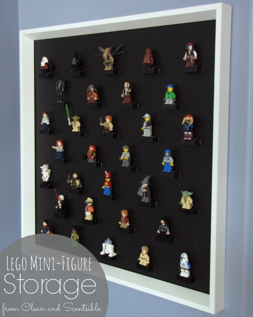 Love this Lego mini-figure storage idea!