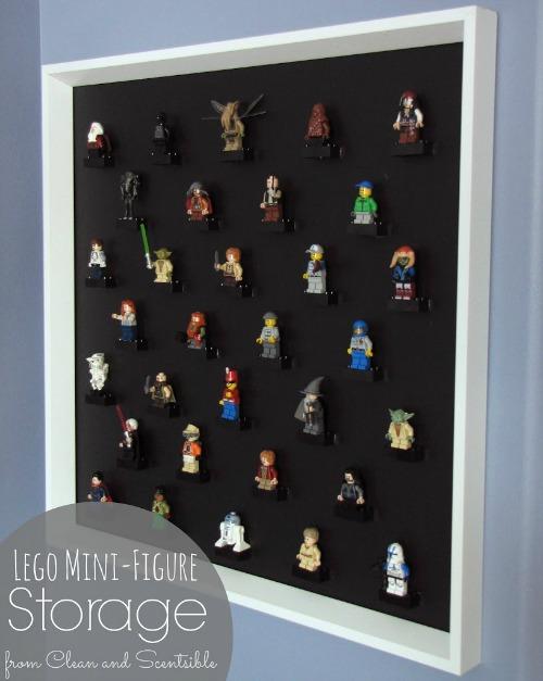 Love this Lego mini-figure storage idea!