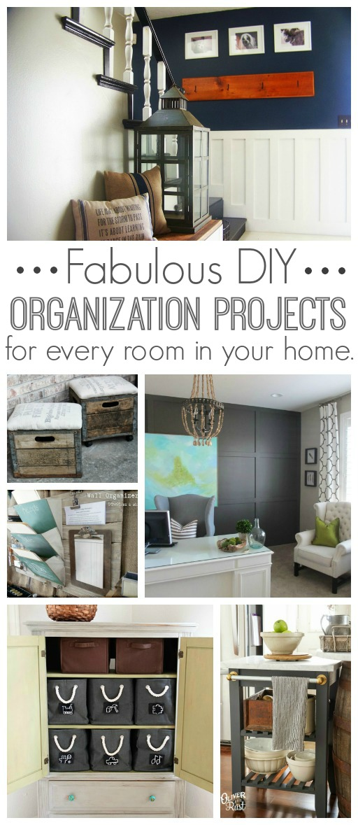 Lots of great organization projects for every room in your home.