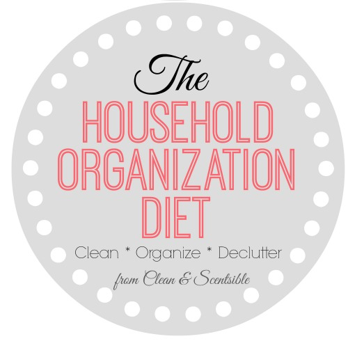 The Household Organization Diet - A year long easy to follow plan to help you get {and stay!} organized!