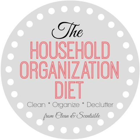 The Household Organization Diet - A year long plan to get your whole home cleaned, organized, and clutter-free!!