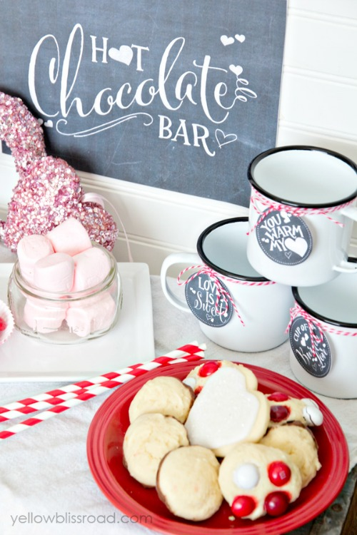 Hot Chocolate Bar with Free Printables