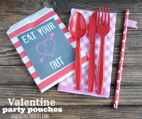 Valentine's Day Party Pouches.