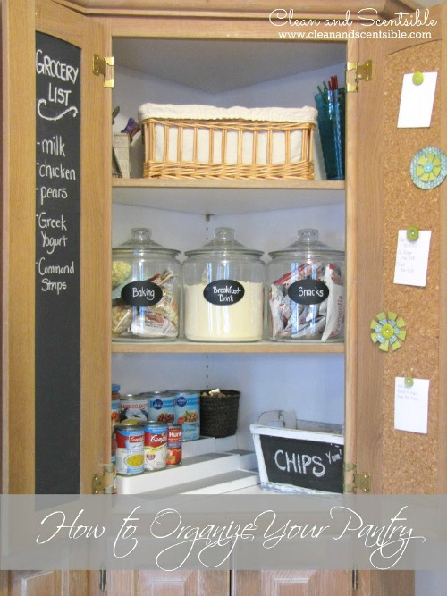 How to organize a pantry - lots of ideas fro any sized space!