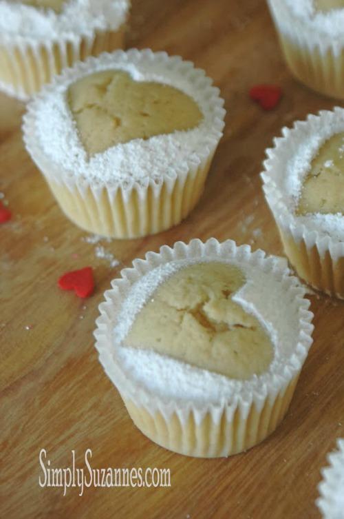 Vanilla Bean Pound Cake Heart Cupcakes