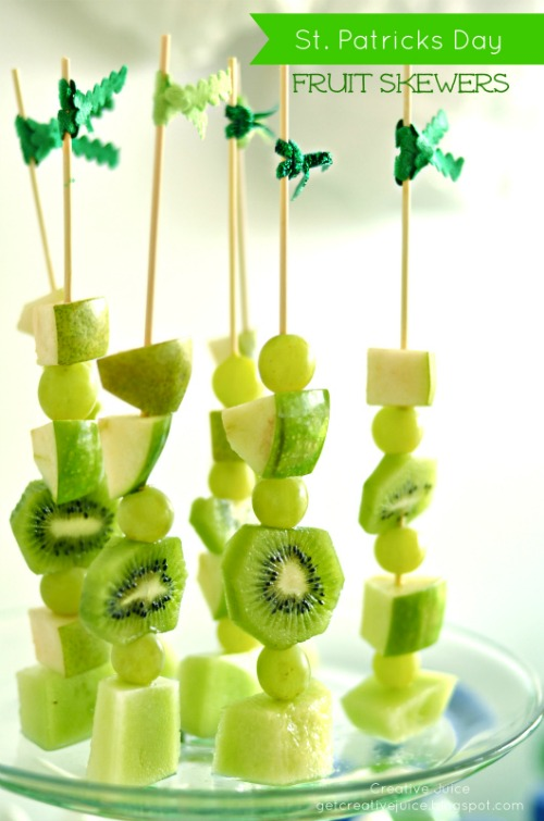 Lots of fun and healthy St. Patrick's Day food ideas.