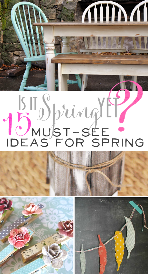 Great ideas for spring projects around the home!