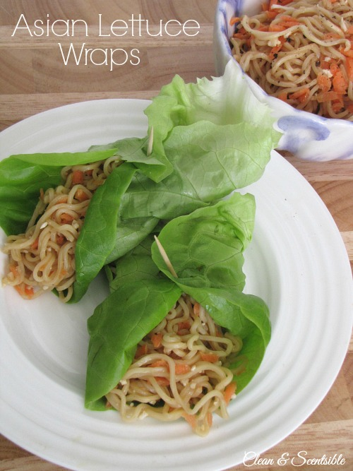 Quick and easy Asian lettuce wraps. Easily prepared in less than 15 minutes!