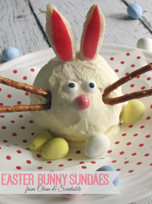Super cute Easter bunny sundaes!