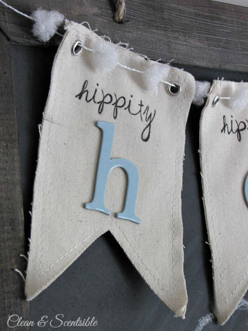 Cute Easter chalkboard and bunting!