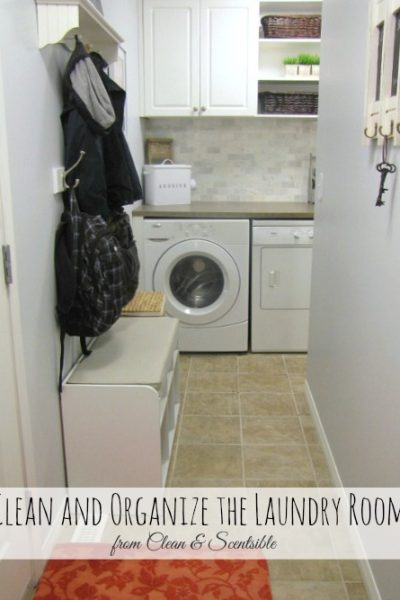 How to Clean and Organize the Laundry Room