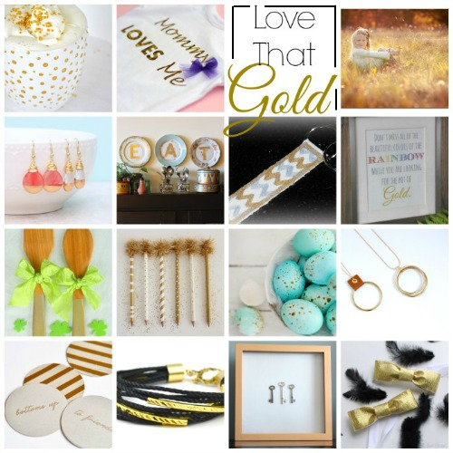Love these gold inspired projects!