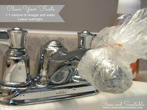Spring cleaning the bathroom clean and scentsible for How to clean bathroom faucets