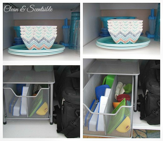 Great post on how to organize kitchen cabinets.  Lots of great ideas!