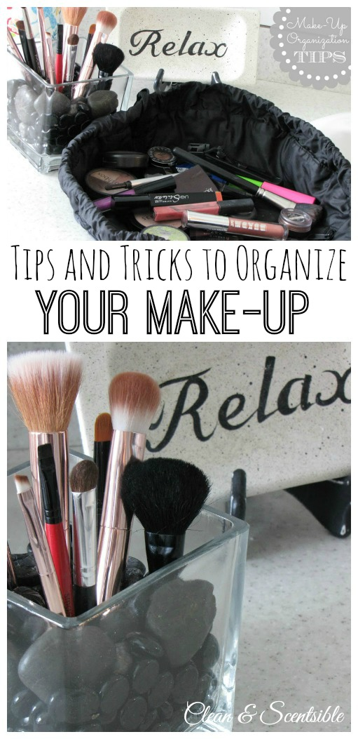 Great ideas for organizing your makeup and other bathroom organization ideas!