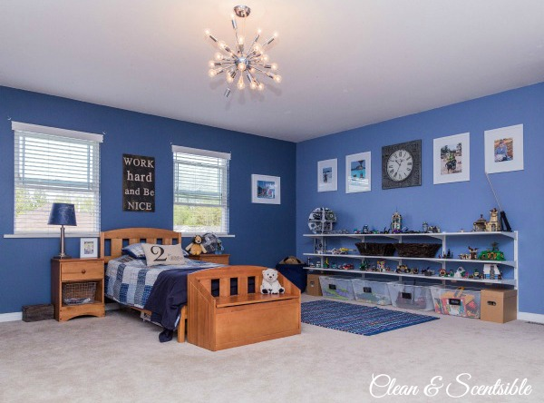 Boys bedroom ideas home tour clean and scentsible for Boys room designs
