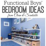 Great ideas for creating a fun and functional boy's bedroom! // from Clean and Scentsible