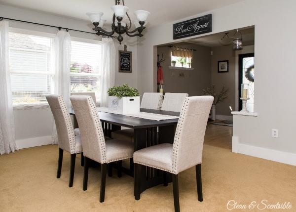Dining Room Design Ideas {Home Tour} - Clean and Scentsible