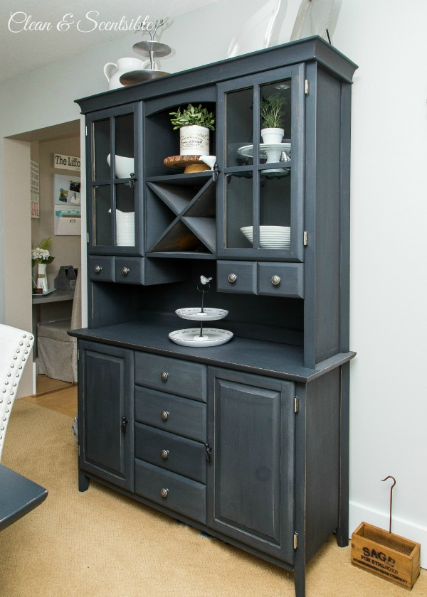 Dining Room Design Ideas Buffet And Hutch Painted In ACSP Graphite