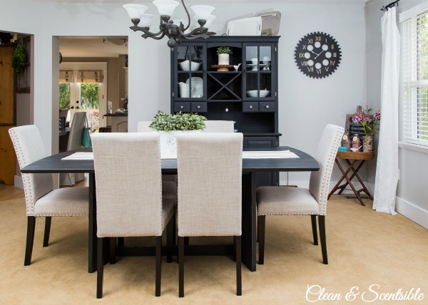 Dining room design ideas home tour clean and scentsible for Dining room design ideas