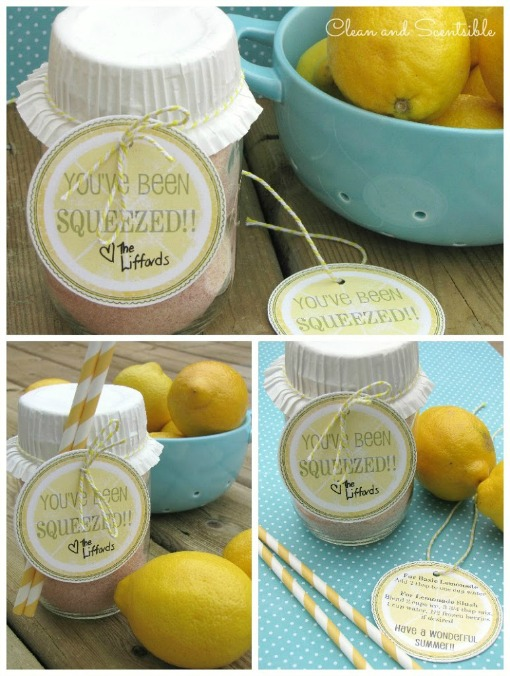 Lemonade in a jar - cute summer gift idea!