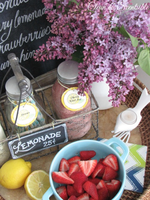 This little lemonade bar is so  cute!