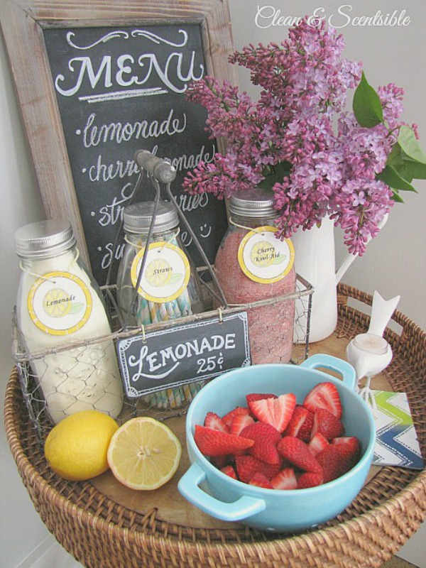 Mini lemonade bar for summer!