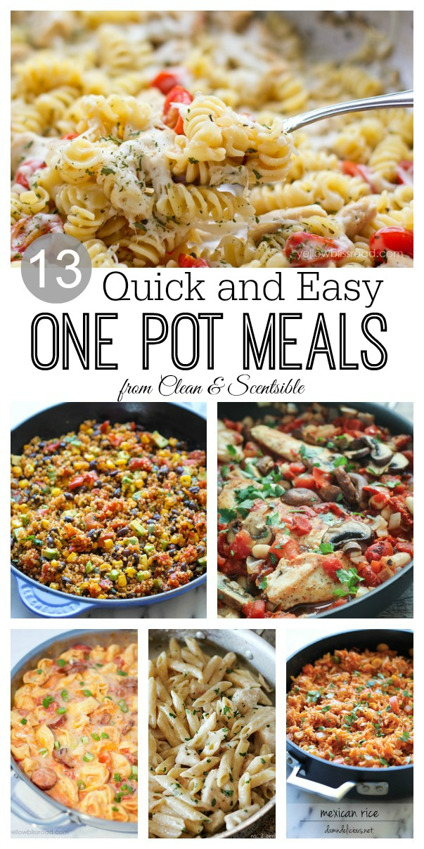 One Pot Meals Clean And Scentsible