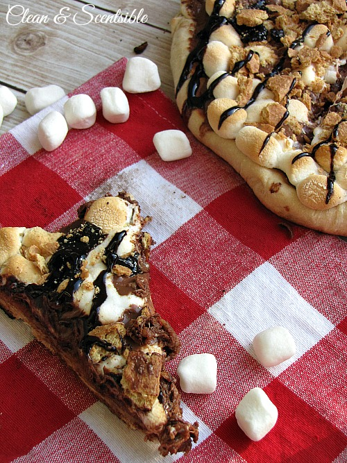How to make smores pizza