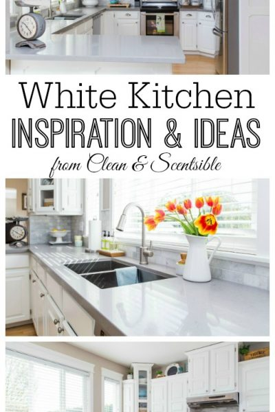 White Kitchen Tour from Clean and Scentsible.