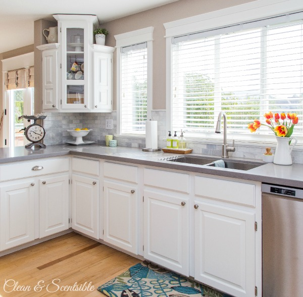 Beautiful White Kitchen From Clean And Scentsible