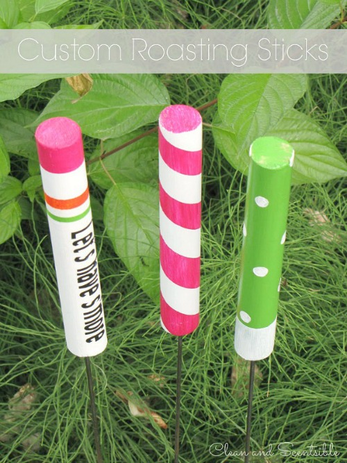 Make custom roasting sticks!  Such a fun camping or summer activity and perfect for making smores!