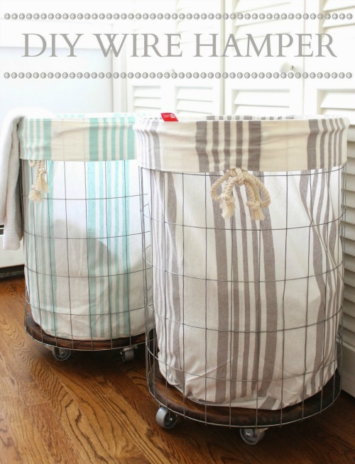 Love these DIY laundry hampers! Lots of other summer projects too!