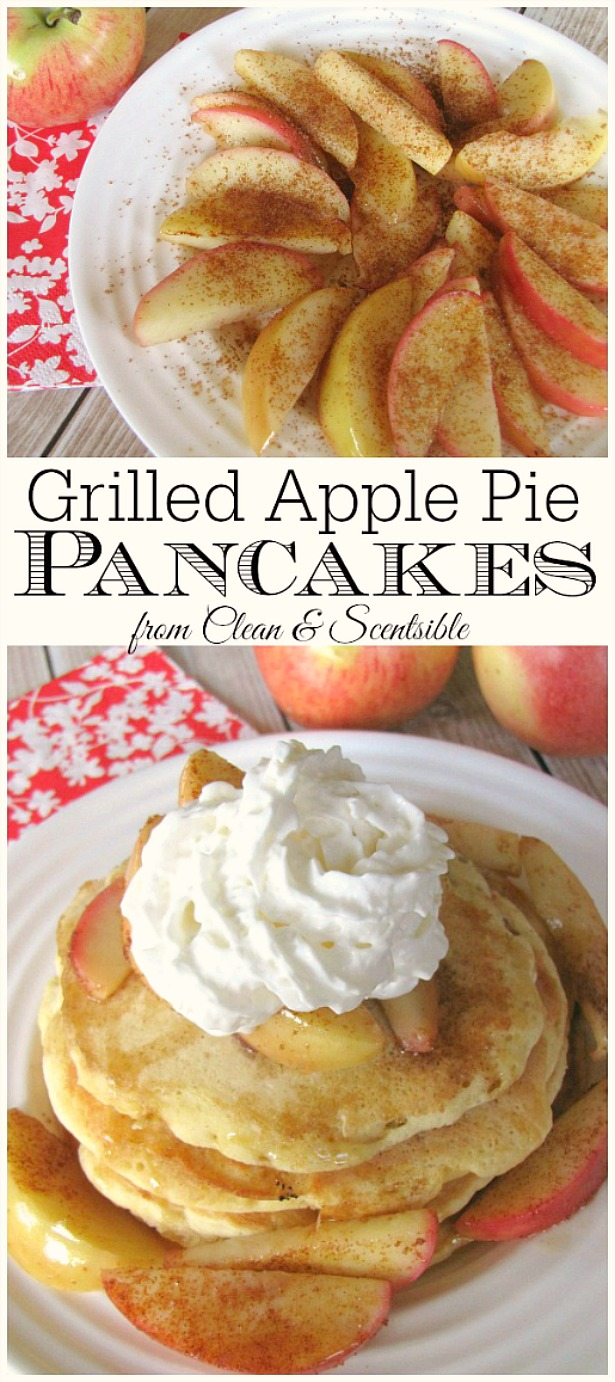 These apple pie pancakes make the perfect breakfast treat. Great camping recipe too if you have a griddle!
