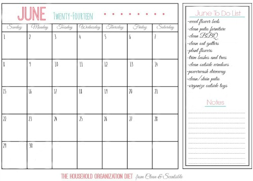 June Household Organization Diet - Cleaning and Organizing Outdoor Spaces