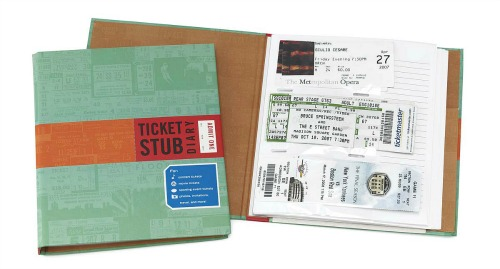 Ticket stub diary - record all of those events and travel destinations in one place!