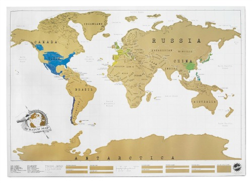 This scratch mat is so cool - scratch off each destination that you have traveled to!