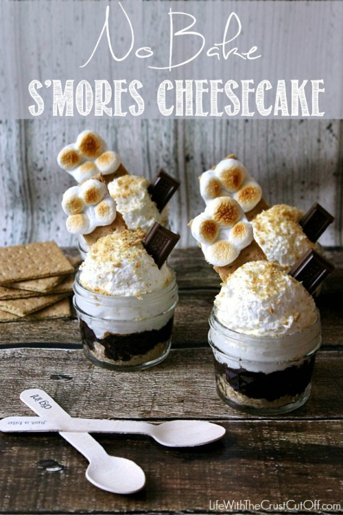 No Bake S'mores Cheesecake.  Lots of other yummy s'mores inspired recipes too!