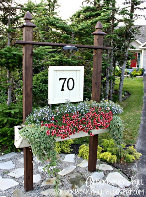 Outdoor organizing and decorating ideas.
