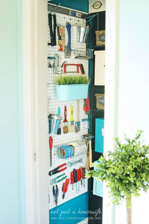Craft Cupboard Organization