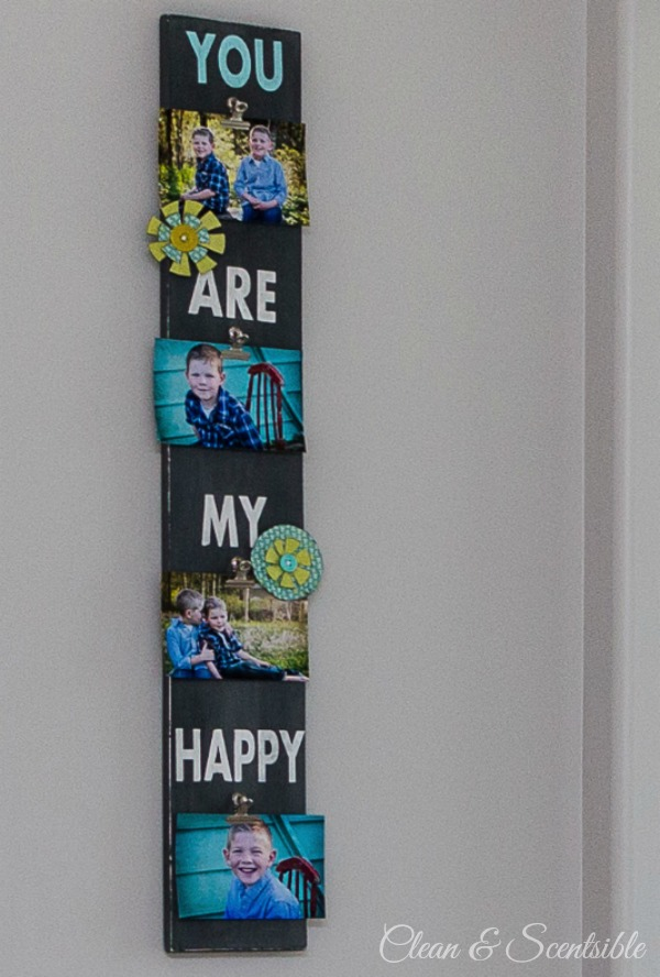 Quick and easy way to display photos!  Great gift idea!