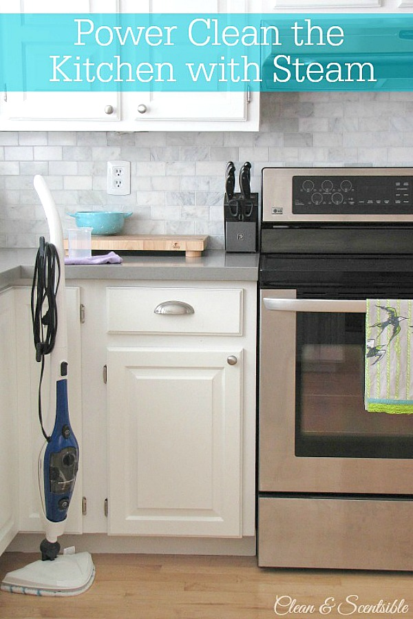 Power Clean the Kitchen with Steam