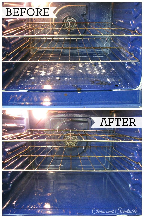 Us steam to green clean the oven - only three minutes and NO scrubbing!