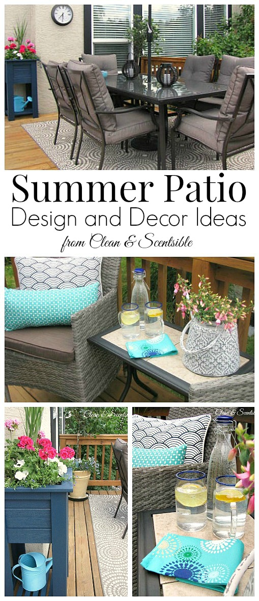 Summer patio ideas clean and scentsible for Uncovered patio ideas