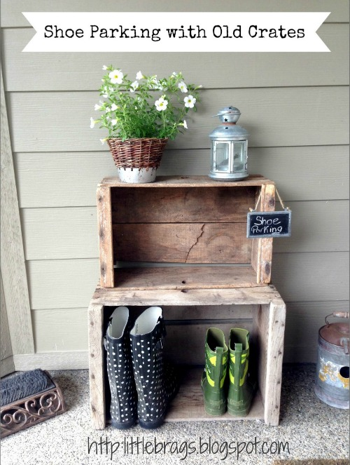 Use some wooden crates to old shoes  Lots of other summer projects too!
