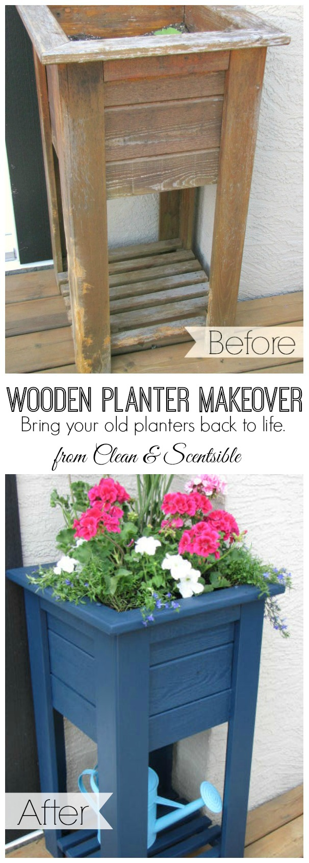 Bring your old wood planters back to life with paint!