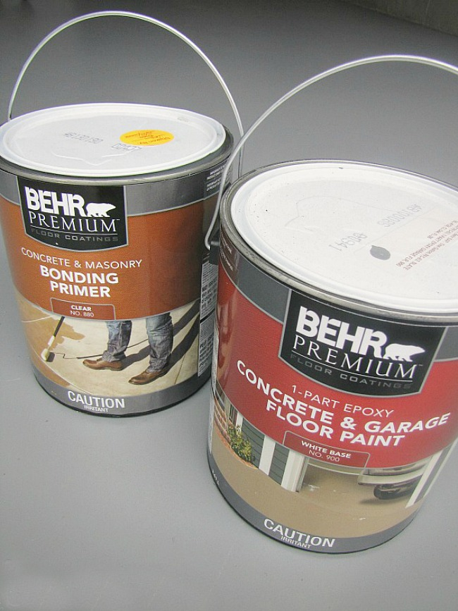 Behr floor paint to paint a garage floor.