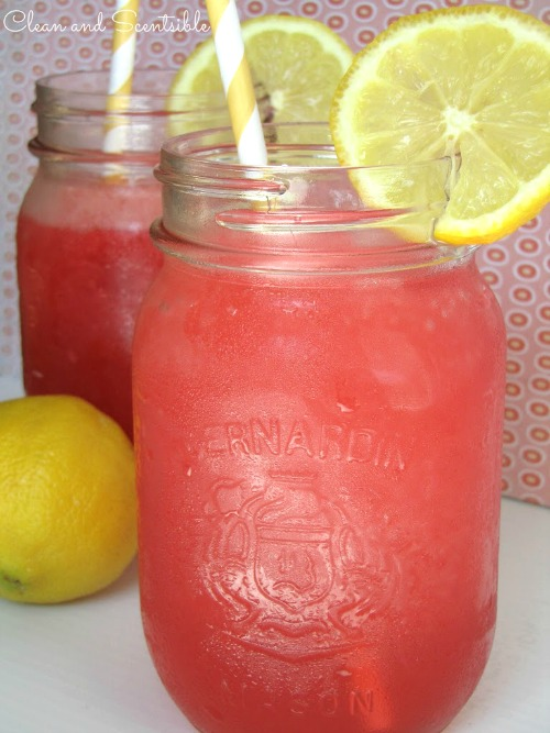Cherry Raspberry Lemonade Slushie - so easy to make and so refreshing!